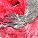 Mulberry silke garn her i fargen Himbere