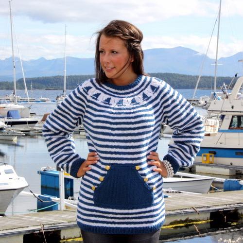"""Gratis strikkeoppskrift på """"seil din egen sjø"""""""