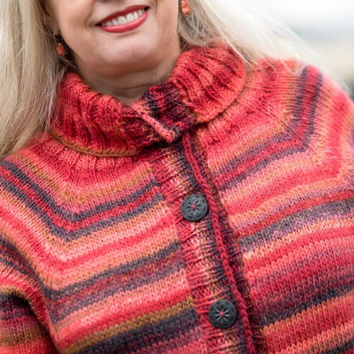 baggy-strikkejakke-drops-big-delight strikkejakke garnpakke -enkel damejakke strikkeoppskrift