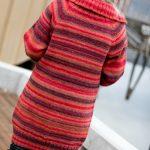 garnpakke -enkel enkel-strikket-damejakke-i-drops-big-delight-rygg damejakke strikkeoppskrift