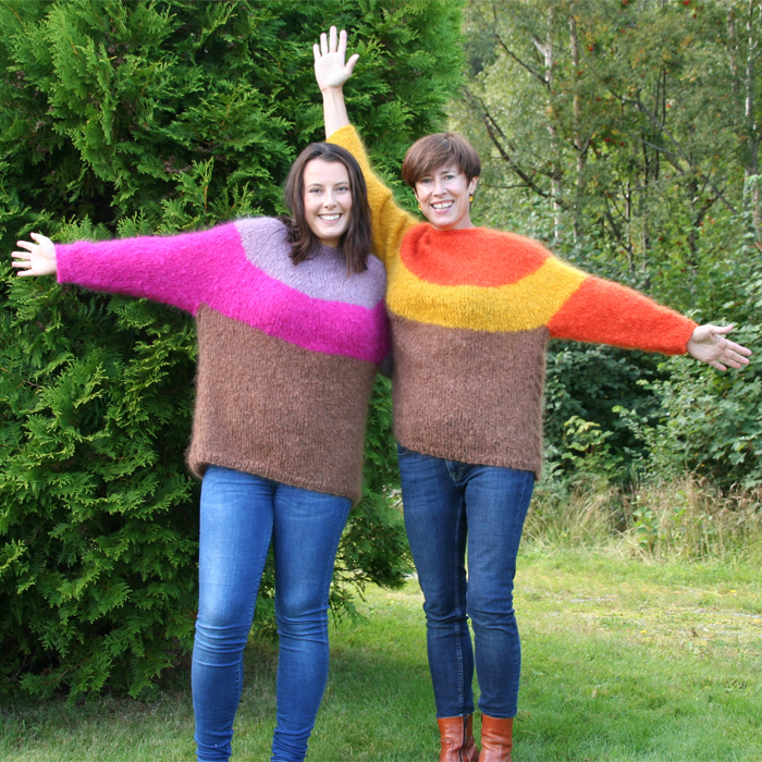 trioline-strikket-damegenser garnpakke