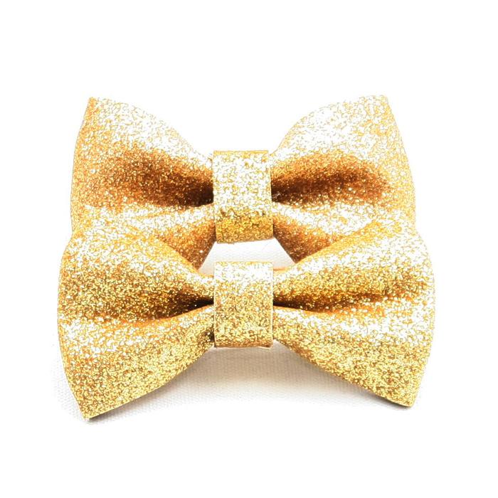 c6ca547ffdf Bowtie Glitter Gold fint til sko og klær - Happy Knitting AS
