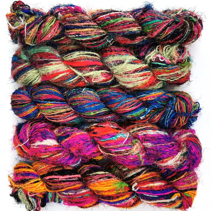 Sari resilke garn fra India