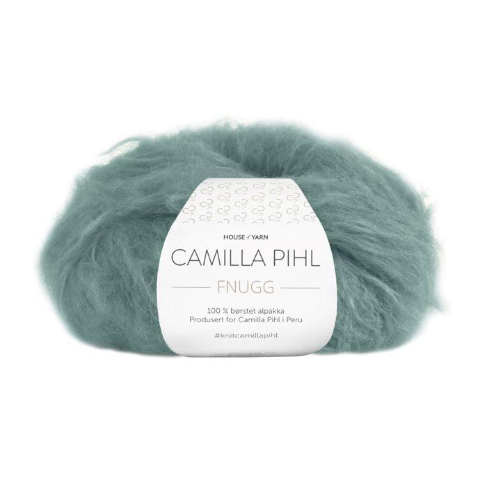 Alpakkagarn fra Camilla Pihl her i 50 grams nøste i fargen 924 agatgrønn.