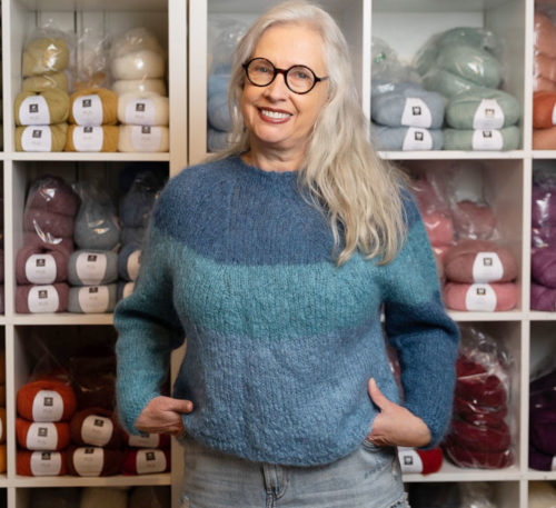 Magda Elin Johnsen, daglig leder og primus motor i Happy Knitting AS