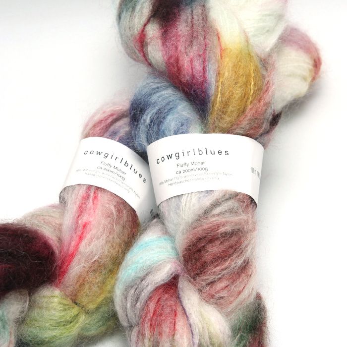 Fluffy mohair gradient fra Cowgirl blues