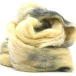 Fluffy mohair gradient fra Cowgirl blues 21 Limoncello