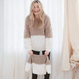 Strikkepakken inneholder mønster og garn fra Camilla Pihl til Kari Kid genseren cp67