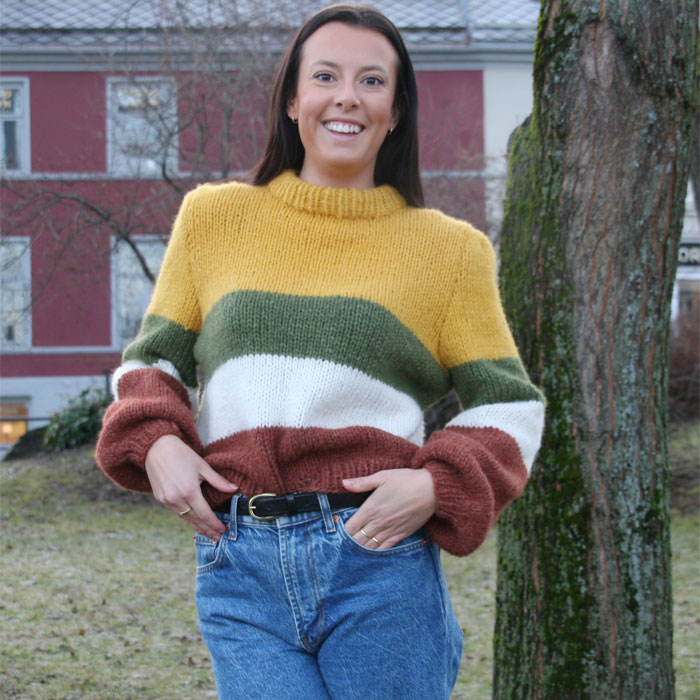 pus garn oppskrift genser