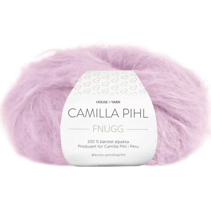 Fnugg garn fra Camilla Pihl. Supermykt alpakka garn her i fargen 909 Perlerosa.
