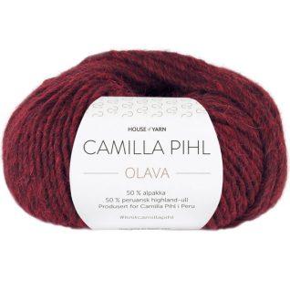 Olava garn fra Camilla Pih, 50 % alpakka og 50 % peruansk highland-ull. Her i fargen 928 Olava garn fra Camilla Pih, 50 % alpakka og 50 % peruansk highland-ull. Her i fargen 928 bordauxmelert