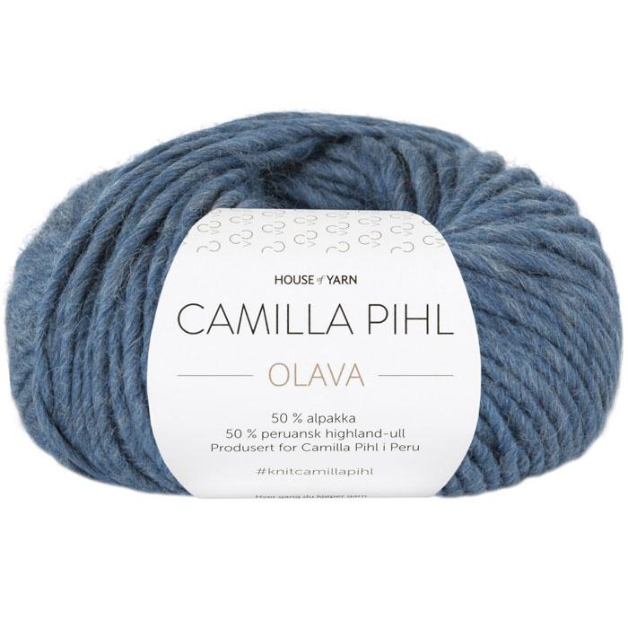 Olava garn fra Camilla Pih, 50 % alpakka og 50 % peruansk highland-ull. Her i fargen 928 Olava garn fra Camilla Pih, 50 % alpakka og 50 % peruansk highland-ull. Her i fargen 931 denim melrt.