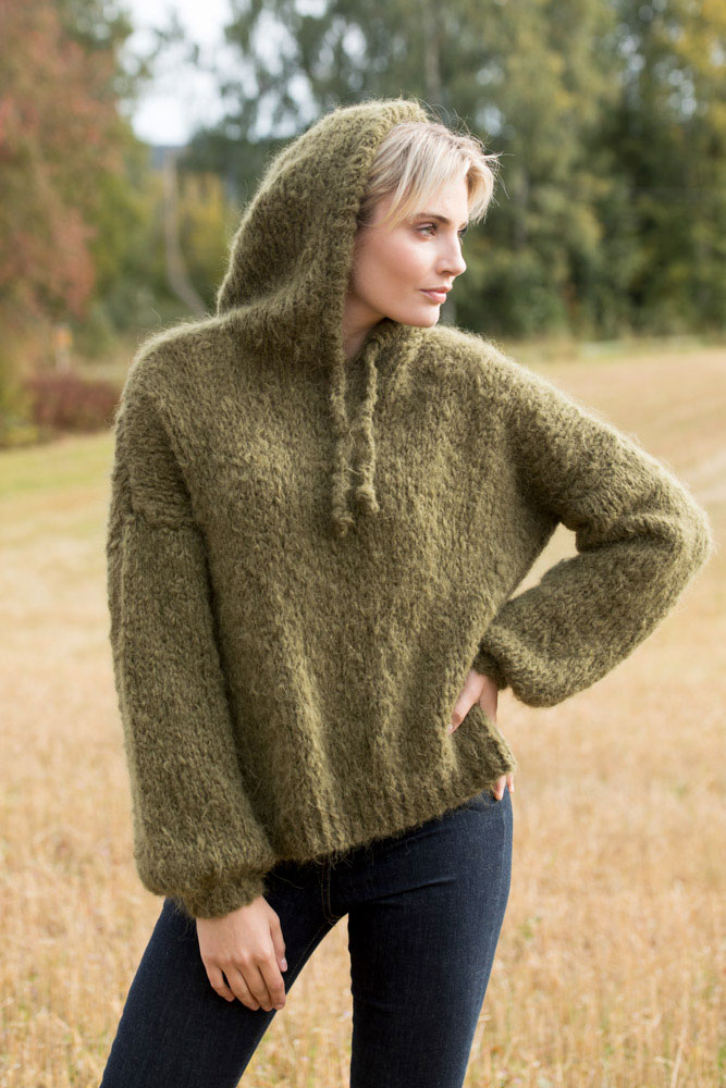 Strikkepakken inneholder mønster og garn fra Camilla Pihl til Cp17-06 Citrine hoodie