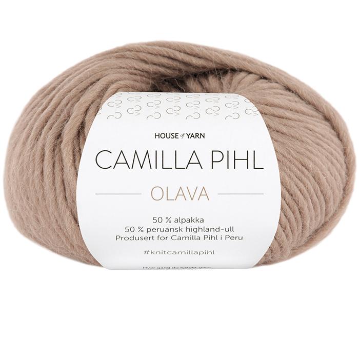Olava garn fra Camilla Pihl i fargen 905 Kamel.