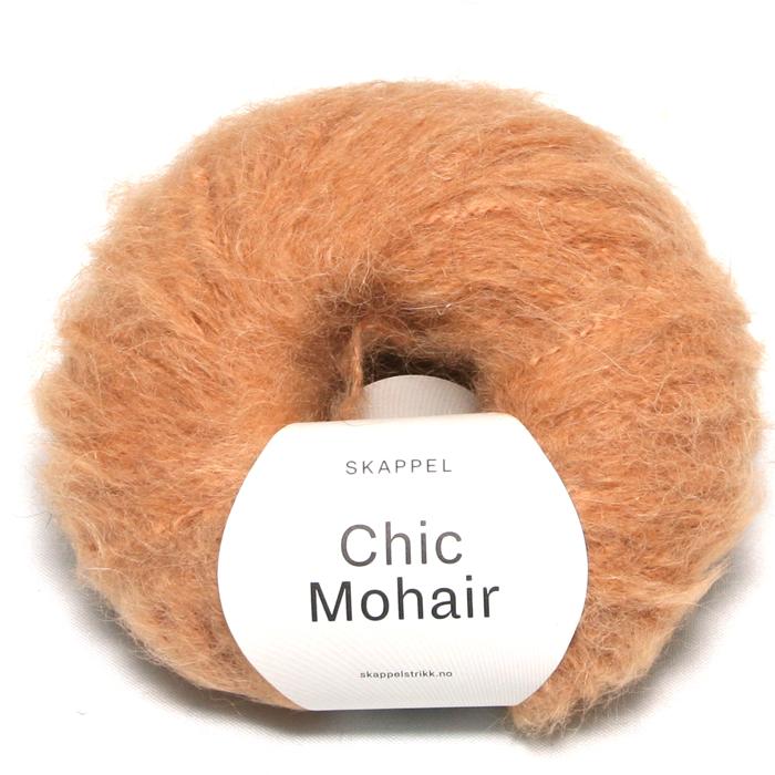 Skappel garnet Chic mohair her i fargen 504 kamel.