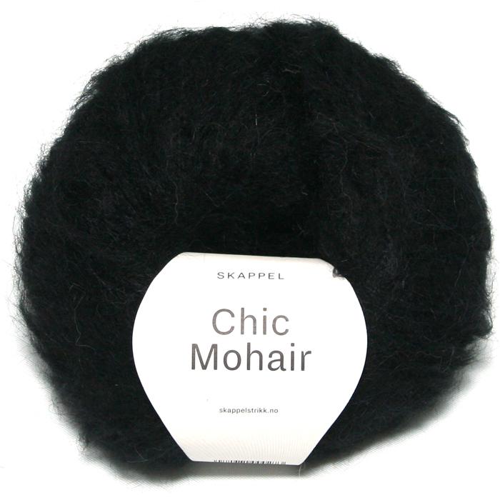 Skappel garnet Chic mohair her i fargen 507 sort.