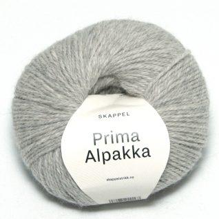 Skappel garnet Prima alpakka her i fargen 202 gråmelert.
