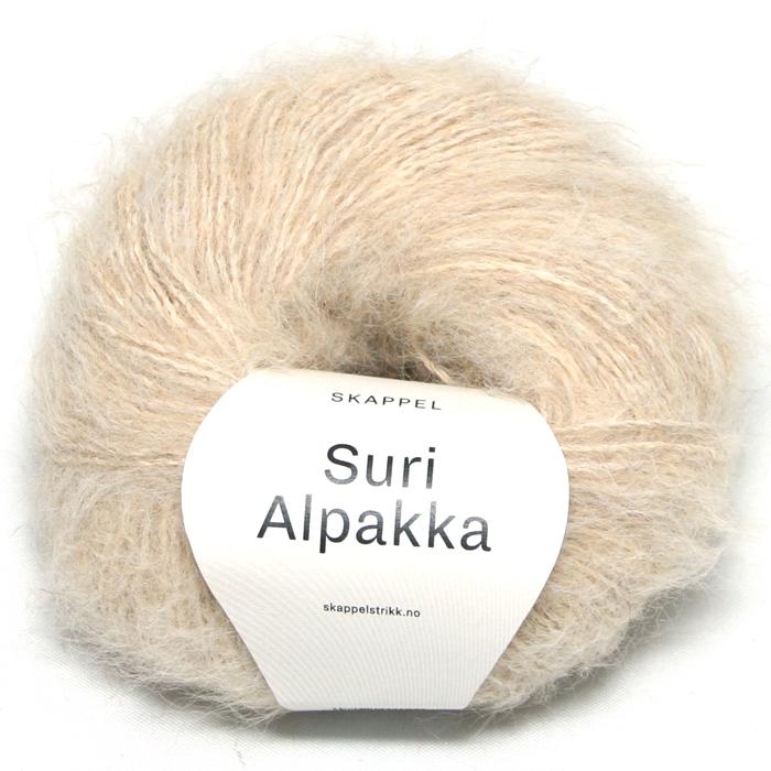 Skappel garnet Suri Alpakka i fargen 111 sandmelert