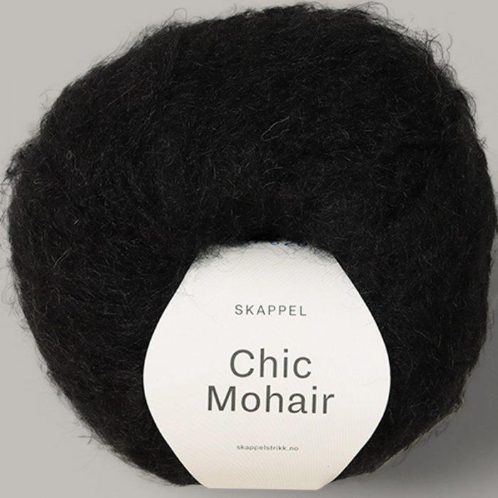 Chic mohair fra Skappel. Her i fargen 507 sort.