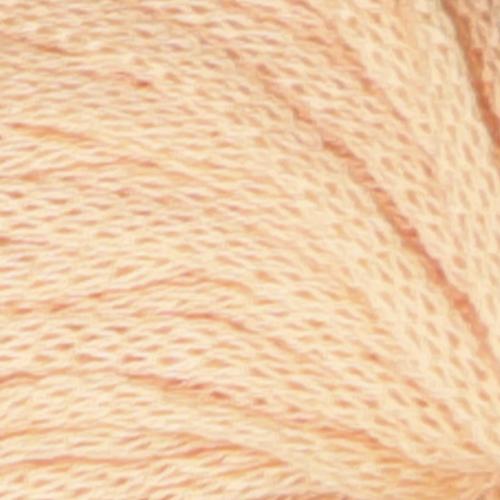 Frisk garn fra Skappelstrikk. Viser et utsnitt av garnet. Her i fargen fersken.