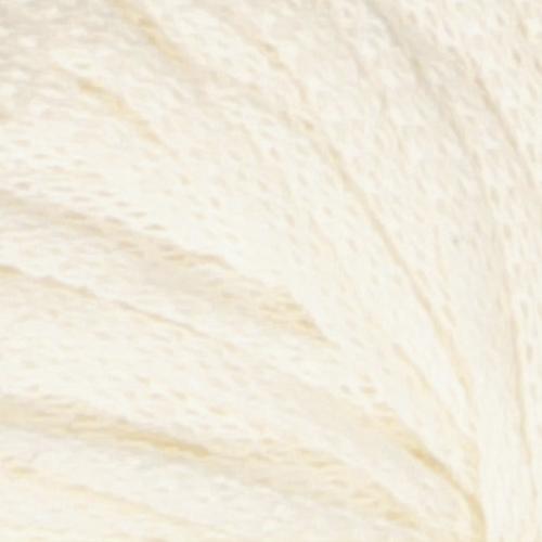 Frisk garn fra Skappelstrikk. Viser et utsnitt av garnet. Her i fargen naturhvit.
