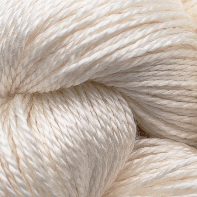 BC garn Jaipur silk fino her i fargen 49 naturhvit.
