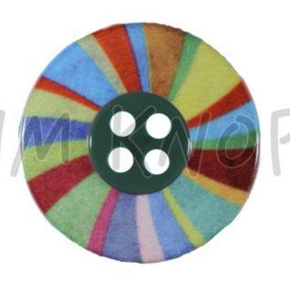 Jim Knopf plastknapp viser et fargerikt hjul.