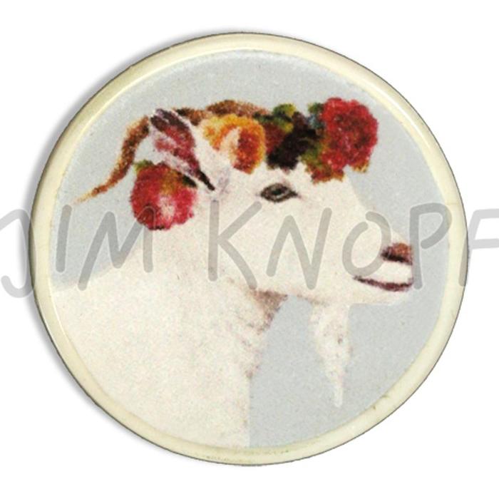 Jim Knopf Resin button goat Hanna 23mm blå